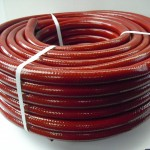 London And Lancs - Ellbraid Contractor's 50m Hose - Red