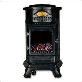 Calor Provence 3kw Portable Gas Stove Heater Gloss Black 1