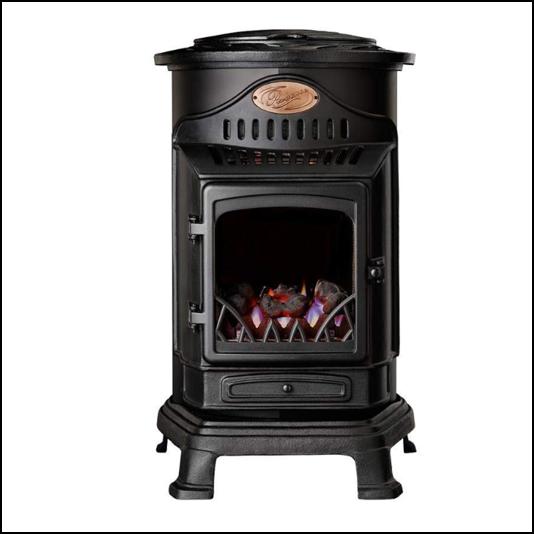 Provence 3kw Portable Gas Stove Heater Matt Black 1