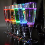 Clulite LED 6pk Champagne Glasses 2