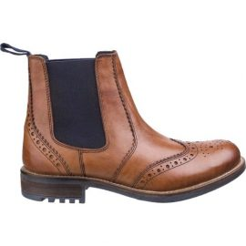 Cotswold Cirencester Mens Tan Brogue Chelsea Boots 1