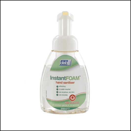 Deb Instant Foam Hand Sanitiser 250ml Pump Bottle