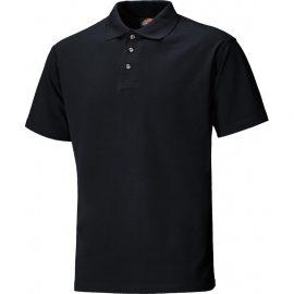 Dickies Black Short Sleeve Polo Shirt 1