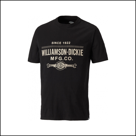 Dickies Castleton Black T Shirt 1