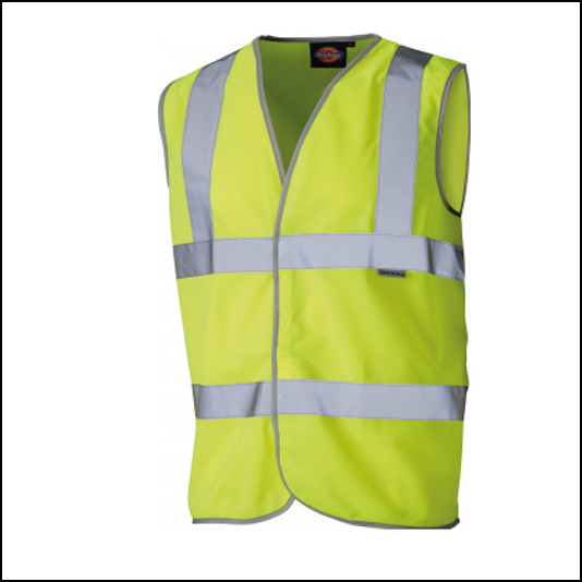 Dickies Hi-Visibility Highway Safety Waistcoat Yellow 1