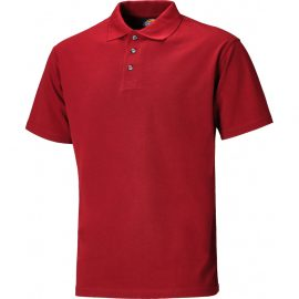 Dickies Red Short Sleeve Polo Shirt