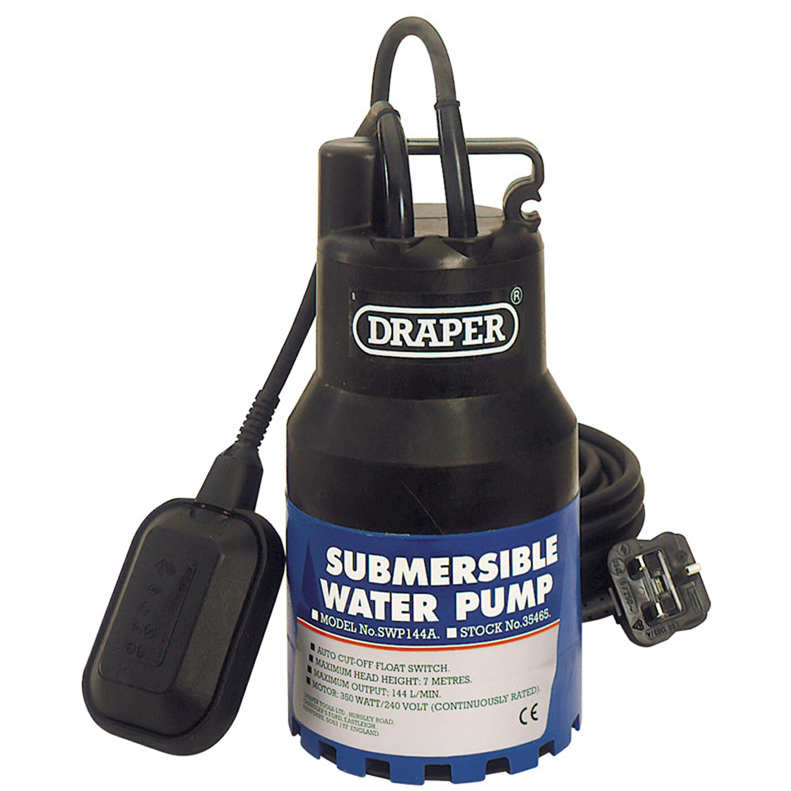 Draper 34565 Submersible Water Pump with Float 1