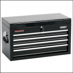 Draper 4 Drawer Black Tool Chest