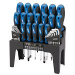 Draper 44pc Soft Grip Screwdriver, Hex Key and Bit Set