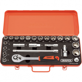 Draper Retro Edition 25pc 12 Sq. Dr. Metric Socket Set 1