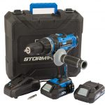 Draper Storm Force 20V Cordless Hammer Drill with Two Li-Ion Batteries