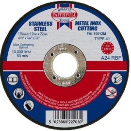 Faithfull Metal Cut Off Disc 115 x 1.2 x 22mm