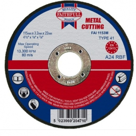 Faithfull Metal Cutting Disc 115 x 3.2 x 22mm
