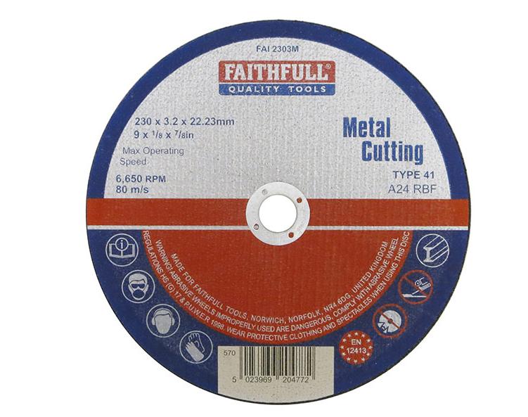Faithfull Metal Cutting Disc 230 x 3.2 x 22.23mm