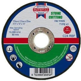 Faithfull Stone Cutting Disc 115 x 3.2 x 22mm
