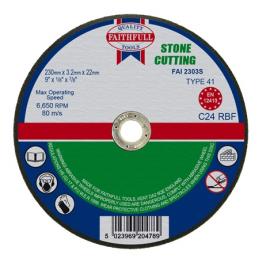 Faithfull Stone Cutting Disc 230 x 3.2 x 22mm