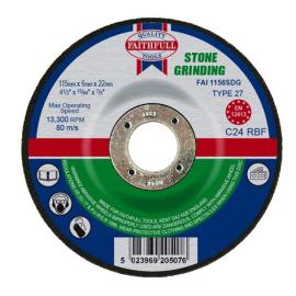 Faithfull Stone Grinding Disc 115 x 6 x 22mm