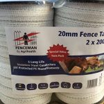 Fenceman White Tape 20mm x 200m Twin Pack
