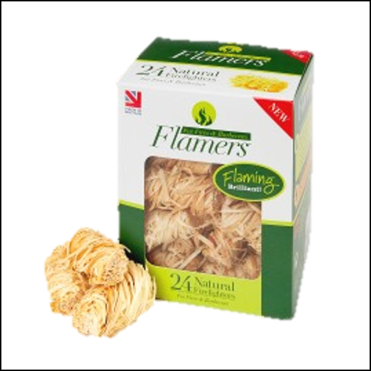 Flamers Natural Firelights - Pack of 24