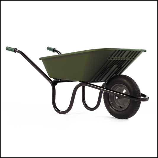 Haemmerlin Vibrante GO Green 90L Pneumatic Wheelbarrow 1