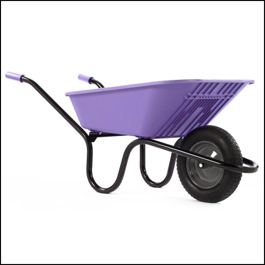 Haemmerlin Vibrante GO Lilac 90L Pneumatic Wheelbarrow 1