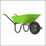Haemmerlin Vibrante GO Lime 90L Pneumatic Wheelbarrow 1