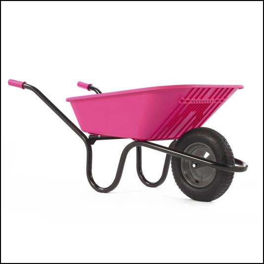 Haemmerlin Vibrante GO Pink 90L Pneumatic Wheelbarrow 1