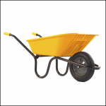 Haemmerlin Vibrante GO Yellow 90L Pneumatic Wheelbarrow 1