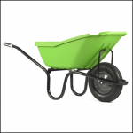 Haemmerlin Vibrante PICK-UP 110L Green Pnuematic Wheelbarrow 1