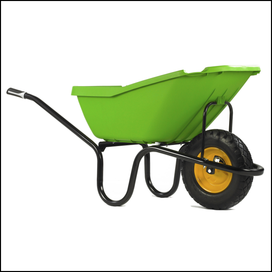 Haemmerlin Vibrante PICK-UP 110L Green Puncture Free Wheelbarrow 1