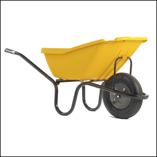Haemmerlin Vibrante PICK-UP 110L Yellow Pnuematic Wheelbarrow 1