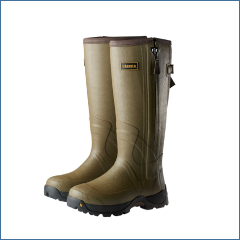Harkila Norse 18inch Zip 5mm H-Vent Dark Olive Boots 1
