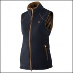 Harkila Sandhem Lady Fleece Waistcoat Dark Navy Melange 1