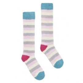 Joules Fab Fluffy Silver Socks