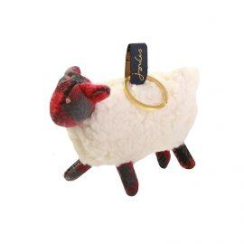 Joules Tweedle Sheep Novelty Keyring
