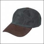 Hoggs of Fife Waxed Baseball Cap Dark Olive 1
