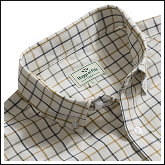 Hogg of Fife Berwick Short Sleeve Checked Shirt 1