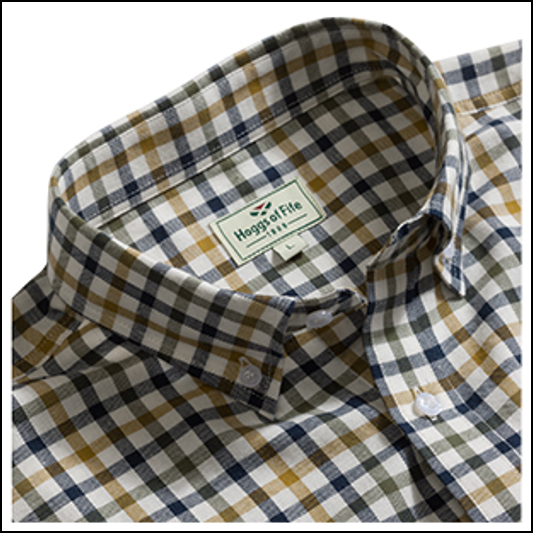 Hogg of Fife Trevose Short Sleeve Checked Shirt 1