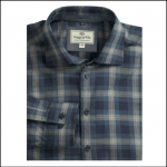 Hoggs of Fife Angus Navy-Beige Check Shirt 1
