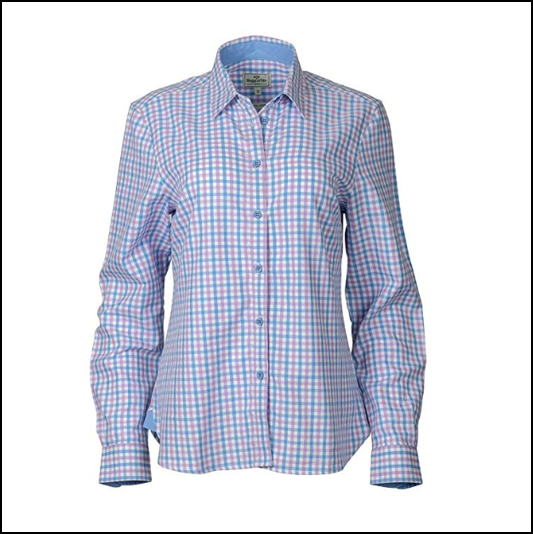 Hoggs of Fife Becky Pink-Blue Cotton Check Shirt 1