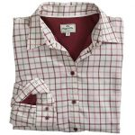 Hoggs of Fife Erin Cream-Apple Jersey Lined Shirt