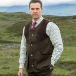 Hoggs of Fife Harewood Lambswool Tweed Waistcoat 2
