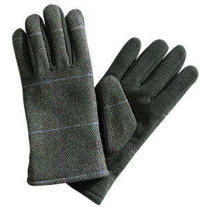 Hoggs of Fife Ladies Albany Tweed Fleece Gloves 1
