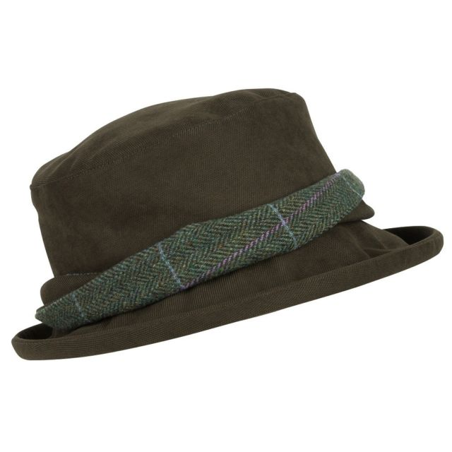 Hoggs of Fife Ladies Albany Tweed Twist Waterproof Hat 1