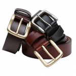 Hoggs of Fife Luxury Dark Brown Leather Belt 1