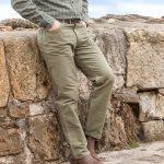Hoggs of Fife Moleskin Jeans Dark Lovat 1