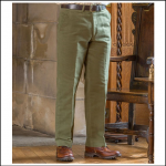 Hoggs of Fife Moleskin Trousers Lovat 1