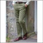 Hoggs of Fife Monarch Moleskin Trousers (Unfinished Leg) Dark Lovat