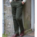Hoggs of Fife Monarch Moleskin Trousers (Unfinished Leg) Dark Olive