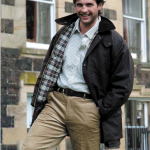 Hoggs of Fife Padded Wax Jacket Brown 1
